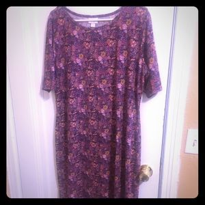 LuLaRoe Dresses - LULAROE Julia mid-length dress SIZE 3X